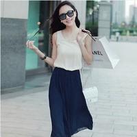 The new summer 2014 han edition sweet princess temperament of chiffon beach  fashion vest