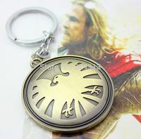 MARVEL Avengers Agents of SHIELD Eagle Logo Pewter Metal Key Ring Chain Keyfob