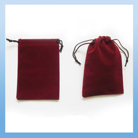 Free Shipping 50pcs 11x16 cm Burgundy Velvet Drawstring Jewelry Bag Christmas Wedding Gift Pouch,Perfect Quality