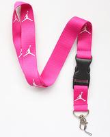 New 10 pcs Rose red The Brand Sport Logo lanyard/Neck Strap/Employee's card hanging rope/Lanyard Free shiping