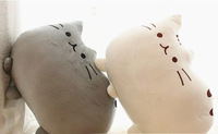 Big face cat pillow cushions Meow star and cushion for leaning on a lazy cat Plush toys