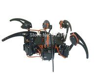 DIY Full Set 18DOF Robot Hexapod Spider  Frame Kits & Servos & 32 Servo Controller black on Arduino Board