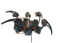 Full Set Robot Hexapod Spider Arduino Board Six 3DOF Legs Frame Kit & 18 Servo-Black