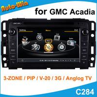 S100 Car DVD GPS Player for GMC Acadia Car Radio Audio GPS Navigation Player with Radio DVD iPod USB SD V-20 Support DVR