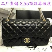 C**HANL  2.55 small sachet cf sheepskin classic plaid chain genuine leather top quality  bag