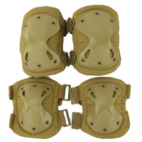New Arrival Adult Durable Airsoft Tactical Knee And Elbow Protector Pads Set Tan Color