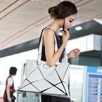 Hot sale!!!  new 2014 women PU Geniune Leather Inclined Big Bag fashion Korea Shoulder women messenger bags