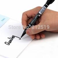 Lackadaisical double slider marker pen 6824 oily hook line pen cd cd-rom pen waterproof