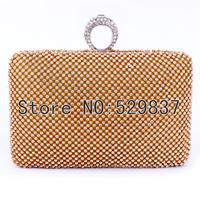 Evening bags women wedding evening bag and handbags full crystal finger ring bag rhinestone diamond day clutch small bags
