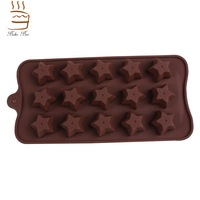 Hot Sail! 15 holes Silicone Bee Beetle Butterfly Stars Mold Cake Mold Baking Chocolate Ice Lattice Bakeware Mold