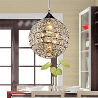 "Modern 8"" Crystal Dining Room Pendant Lights ablaze Crystal Ball Bar Counter Restaurant Hanging Lighting Fixtures"