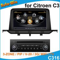 S100 Car DVD GPS Player for Citroen C3 Car Radio Audio GPS Navigation Player with Radio DVD iPod USB SD V20 Support DVR