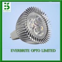 10pcs/lot, 3W 12V 540LM MR16 base LED lamp, cold white 6000k 45 degree led spotlight