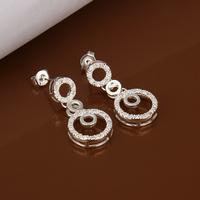 Aliexpress wholesale new zirconia earring, long crystal earrings, circle earrings  free shipping LKNSPCE372
