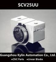 Best Price! 2 pcs SCV25UU SC25VUU Linear Bearing 25mm Linear Slide Block ,free shipping CNC Parts Router linear slide