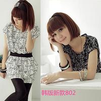 2014 summer decorative pattern plus size clothing one-piece dress