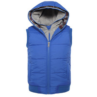 New 2014 Autumn Winter Vest Men Casual Hooded Sleeveless Jacket Fine Quality Cotton-padded  Waistcoat Fashion Thick Male Colete
