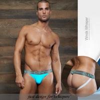 2015 new Men's Sexy Jockstrap Back Empty Briefs Underwears Cotton male panties male thread cotton butt-lifting jocks men's thong