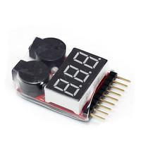 1S-8S check Lipo battery Voltage  tester  Indicator volt meter monitor buzzer Alarm 1-8s  3.7v-30v  Low Voltage Buzzer Alarm