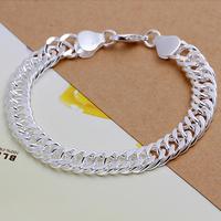 Wholesale H102 Fashion 925 Sterling Silver Cool Men 10mm Bracelet Chain,Top Jewelry Bracelet Free Shipping