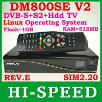 Fedex free 1PCS DM800HD SE V2 800se v2 HbbTV and Web browser with sim2.20 v2 TV Decoder 1GB Flash 512MB RAM free shipping