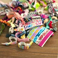 20pcs/lot Goody Ouchless Ribbon Elastics Hair Bands-Girls Women's Hair Accessories Emi Jay Like Elastic Yoga Hair Ties
