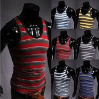 Free Shipping 2014 New Men Slim Fit Sexy Stylish  T Shirt
