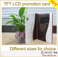 """Custom-made video greeting card,TFT LCD screen video wedding card from 2.4"""" to 10.1"""""""