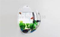 2 pcs / lot Acrylic wall fish tank  / Wall Aquarium / Wall Fish Bowls  (26 * 26 cm) Best Decoration