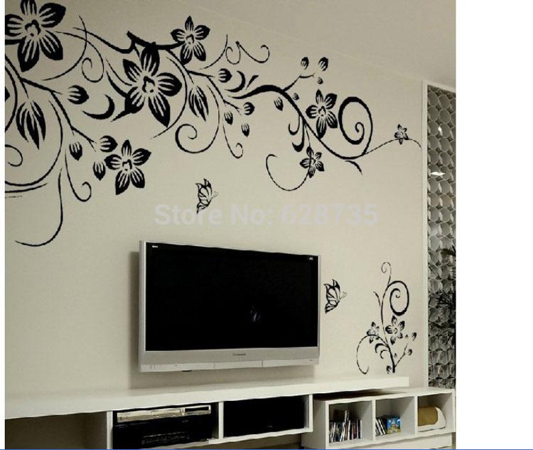 200x107cm wanddecoraties woonkamer, woonkamer muurtattoo stickers ...