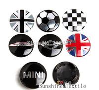 Mini emblem car wheel cover , 53.5mm wheel hub cap cover, mini cooper jcw union jack checker 7 types available 4pcs/lot