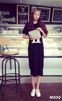 2014 summer Pregnant dress high quality pure cotton black Gravida maternity skirt free size print letter free shipping