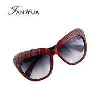 Brown Plastic Fashion Designer New 2014 Eyewear Summer Sunglasses For Women Free Box