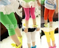 Hot sale Baby girl child kids stocking summer velvet lace leggings candy colors short thin-Free shipping