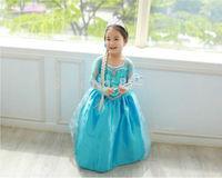 Free shipping Child Toddler Movie Pixar Frozen Princess Anna / Queen Elsa Dress Costume