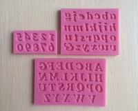 3D English letters & numbers fondant cake molds soap chocolate mould for the kitchen baking 3pc/set   C243