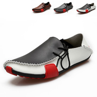 Genuine Leather Big Size 38-47 Casual Shoes For Men High Quality Spring Autumn And Summer Flat For Gentleman 2014 New