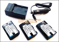 3Pcs LPE6 E6 LP-E6 Batteries & Charger & DC Car Adapter for Canon EOS 5D2 5D3 6D 7D 7D2 7DII 60D 60Da 70D Total 5 Items in a lot