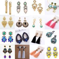 Fashion Jewelry Hollow Out Peacock Designer Enamel Water Drop Dangle Earrings For Women With Created Gemstone Flower Earring