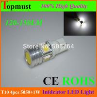 Free Shipping 10X High Power T10 W5W 184 2450 2521 LED Door Light clearance Bulb 5pcs 1.43W car led lamp corner parking light