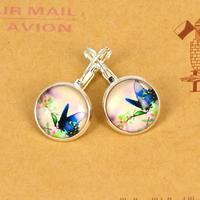 trade jewelry wholesale retro spread IB686 French hook earrings butterfly earrings necklace time