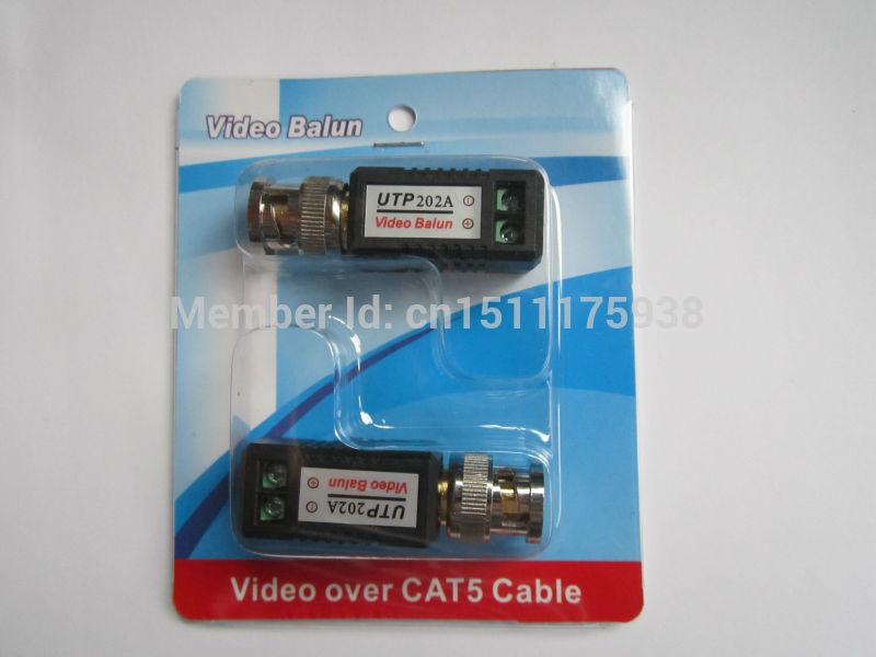 Quality Cheapest enhanced Video Balun Twisted BNC CCTV Video Balun passive Transceivers UTP Balun BNC Cat5 CCTV 202A 5pair(China (Mainland))