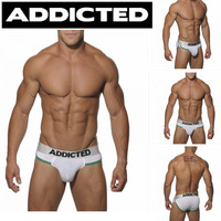 1Pcs!New Fashion Addicted  Floral Brim UnderWear Sexy Sports Briefs Large Pouch Briefs UnderWears Size L