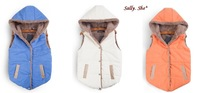 sally she DOO-49 large yard plus velvet autumn winter colorful slim thin cotton lady warm down jacket vest women vest