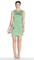 2014 Womens New Cocktail Dress evening Dress fitted sleeveless satin green zebra print pencil shift formal party dress DY651