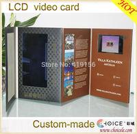 Wedding invitation card designs 2014,lcd video brochure card