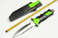Top Quality Outdoor Diving Knife,440C Blade Rubber Handle Stain Polish Hunting Survival Knives.