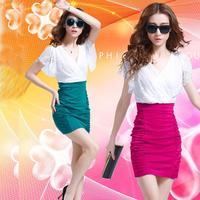 Brand New Novelty Fashion Women Summer Dress Colorful Sexy V Neck Lace Party Dresses Vestido de renda Women's Clothes Clothing