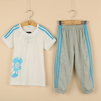 Big sale Wholesale 5sets/lot Children Minnie mickey clothing sets baby boy girl Cartoon cotton clothing suits