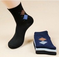 New 2014 100% cotton autumn -summer candy color mid-calf length MEN sock and wholesale long warm socks women Free Shipping